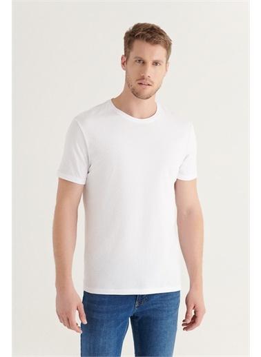 Avva Erkek 2'li Bisiklet Yaka Düz T-Shirt E001012 Beyaz